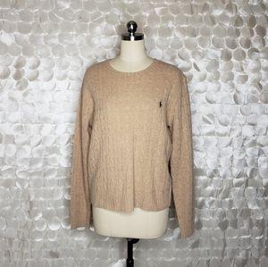 Ralph Lauren Sport Cableknit Lambswool Sweater XL